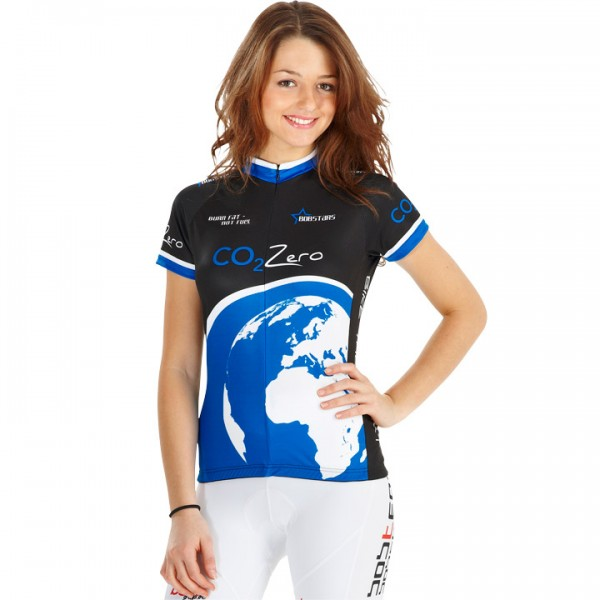 BOBSTARS W´s short sleeve jersey CO2 Zero black/blue U1769Q6454