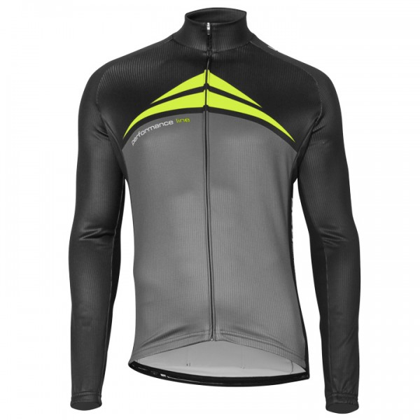 BOBTEAM PERFORMANCE LINE Long Sleeve Jersey neon yellow - grey - black - multicoloured C3731C6832