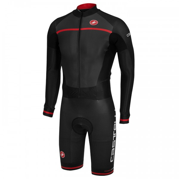 CASTELLI CX 2.0 Race Bodysuit, charcoal grey-black-red grey - black - red - multicoloured H3379S3122