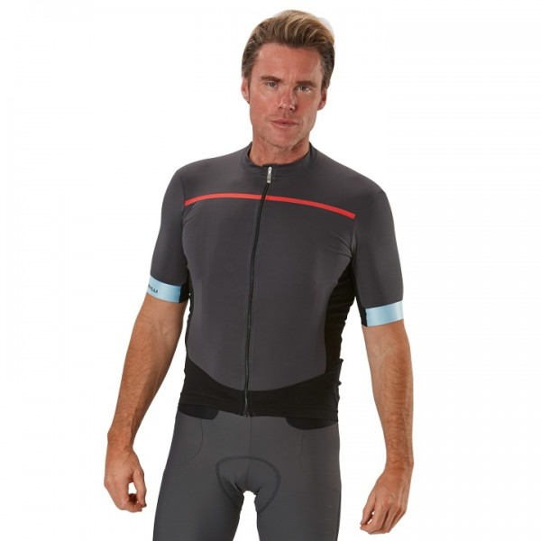 CASTELLI Forza Pro Short Sleeve Jersey grey - red W5826H9067