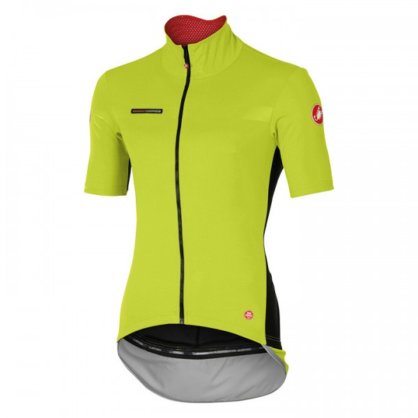 CASTELLI Perfetto Light Short Sleeve Light Jacket neon yellow O8000E3006
