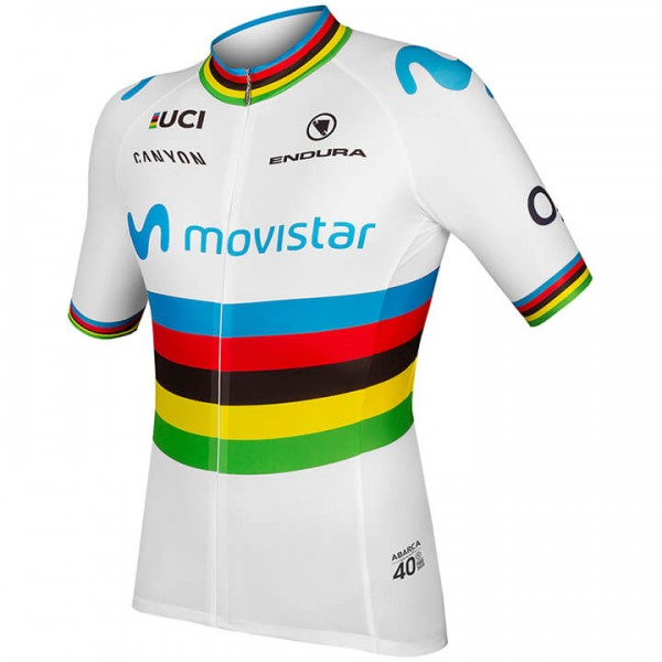 2019 MOVISTAR TEAM Short Sleeve Jersey World Champion Q4597F8027