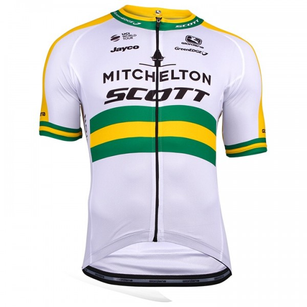 2018 MITCHELTON-SCOTT Australian Champion Short Sleeve Jersey Y8581O8488