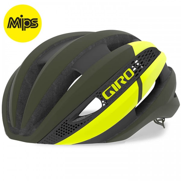 2019 GIRO Synthe Mips Road Bike Helmet yellow - green X2201F1182