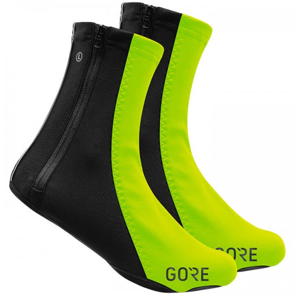 GORE C5 Gore Windstopper Thermal Shoe Covers neon yellow - black H5649B7375