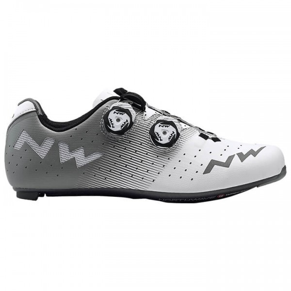 2019 NORTHWAVE Revolution Road Bike Shoes white - grey X4793U0677