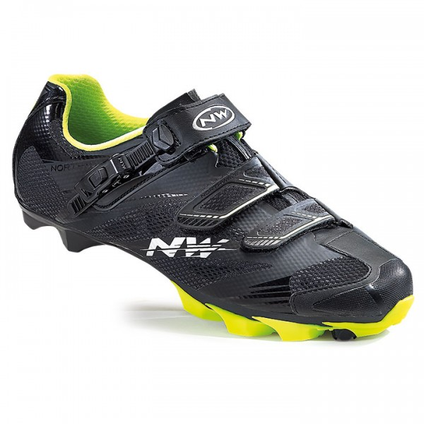 NORTHWAVE Scorpius 2 SRS MTB Shoes, black-neon yellow Z5554B9890