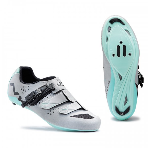 2017 NORTHWAVE Verve SRS Road Shoes, silver reflex-green silver - green T5351A2877