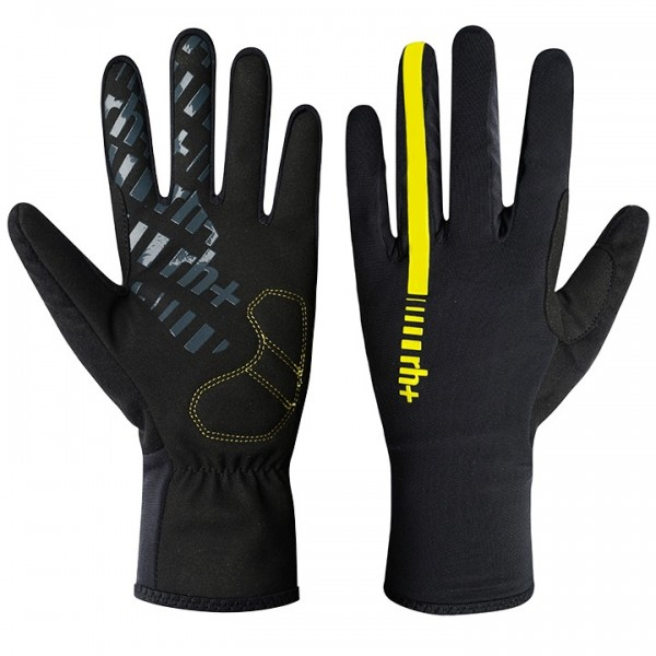 RH+ Wind Full Finger Cycling Gloves black - yellow K5659K3020