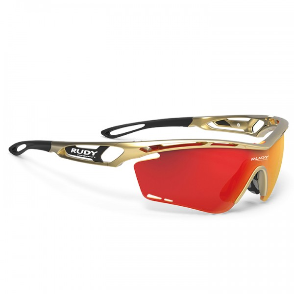 2019 RUDY PROJECT Tralyx Cycling Glasses, gold gold T6003Z7561