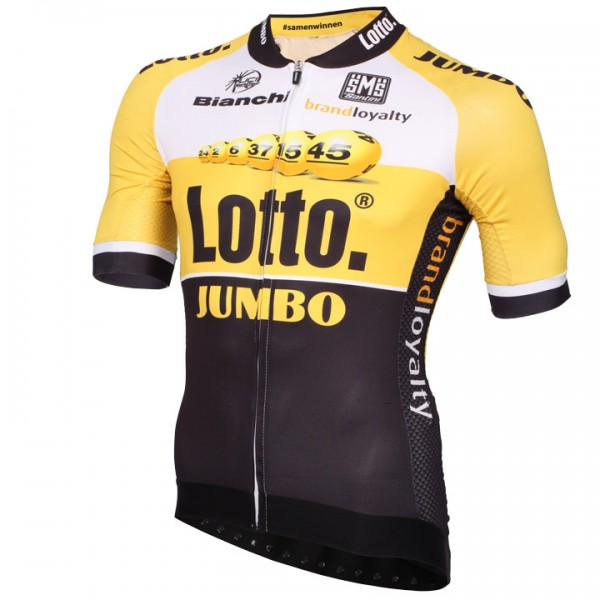 2015 LOTTO NL-JUMBO Aero Race Short Sleeve Jersey E1478M9562