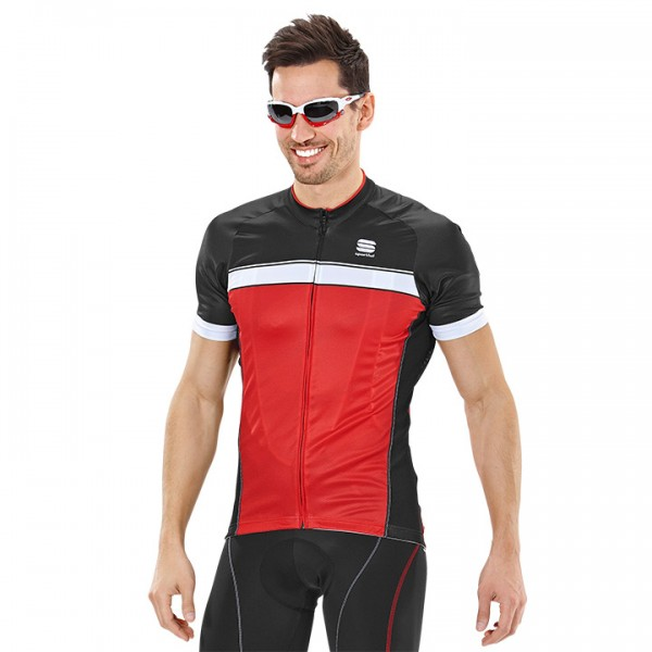 SPORTFUL Giro Short Sleeve Jersey red-black-white U1858T2669
