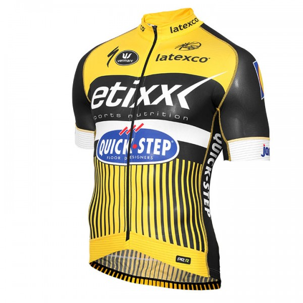 2016 ETIXX-QUICK STEP Short Sleeve Jersey PRR TDF Edition yellow E5296K6819