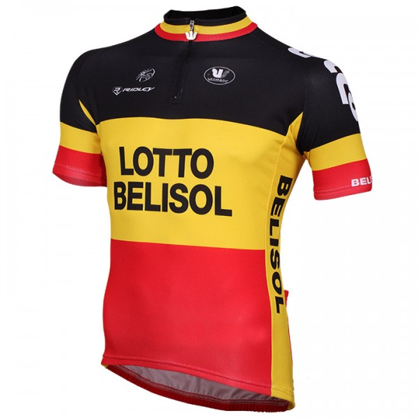 2014-2015 LOTTO BELISOL Short Sleeve Jersey Belgian Champion J6029G2937