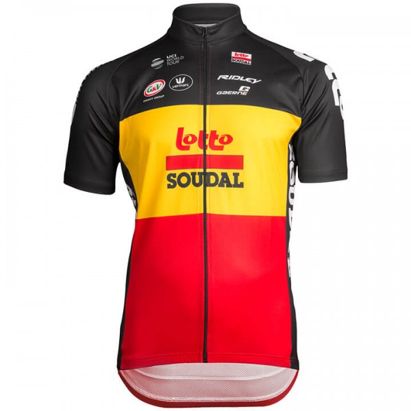 2019 LOTTO SOUDAL Belgian Time Trial Champion Short Sleeve Jersey S6041B0101
