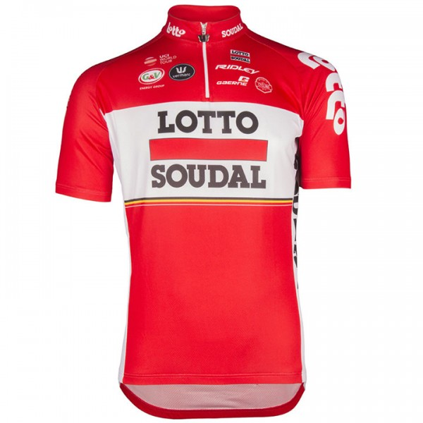 2017 LOTTO SOUDAL Short Sleeve Jersey A6040G7297