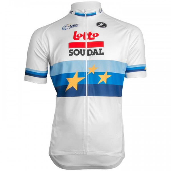 2019 LOTTO SOUDAL Short Sleeve Jersey European Champion A5542P4089