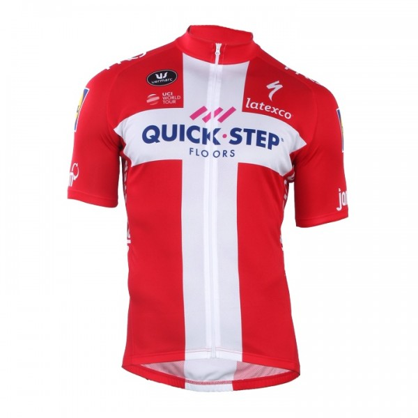 2018 QUICK - STEP FLOORS Danish Champion Short Sleeve Jersey F1112O1984