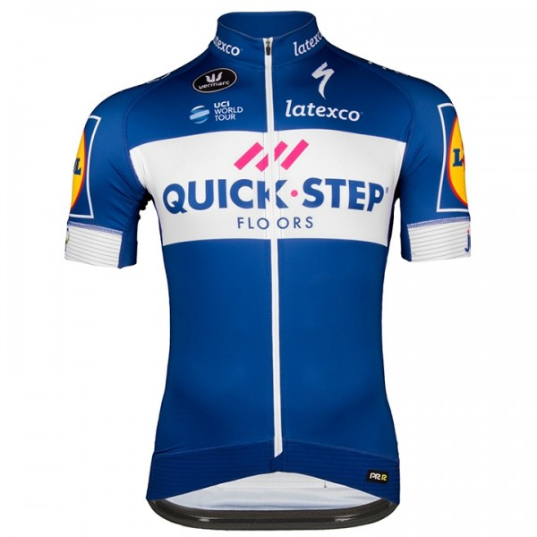 2018 QUICK-STEP FLOORS PRR Short Sleeve Jersey H8032P1594